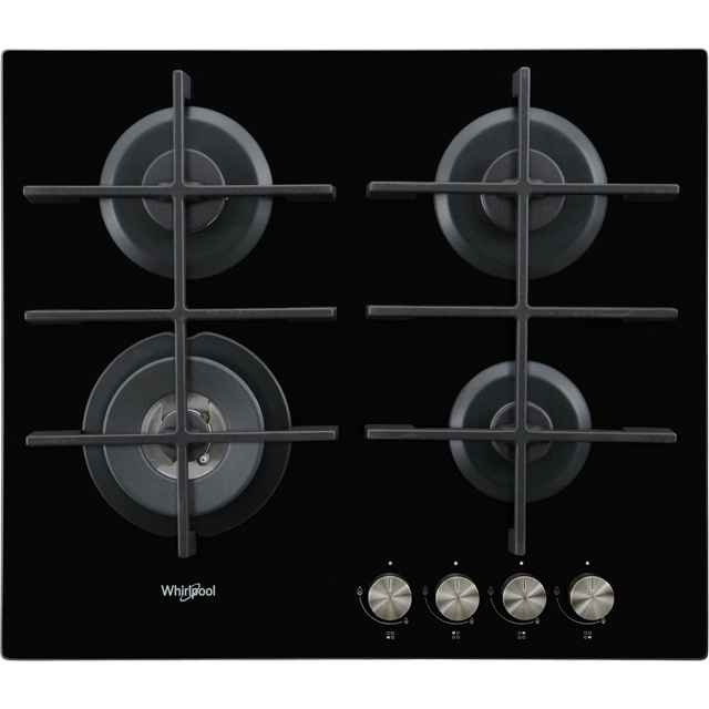 Whirlpool W Collection GOW6423/NB 59cm Gas Hob - Black - GOW6423/NB_BK - 1
