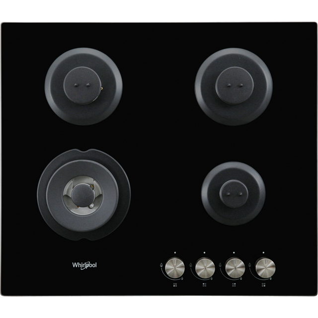 Whirlpool W Collection GOW6423/NB Built In Gas Hob - Black - GOW6423/NB_BK - 2