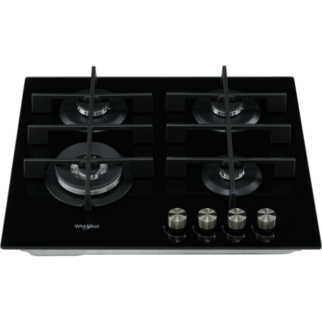 Whirlpool W Collection GOW6423/NB Built In Gas Hob - Black - GOW6423/NB_BK - 4