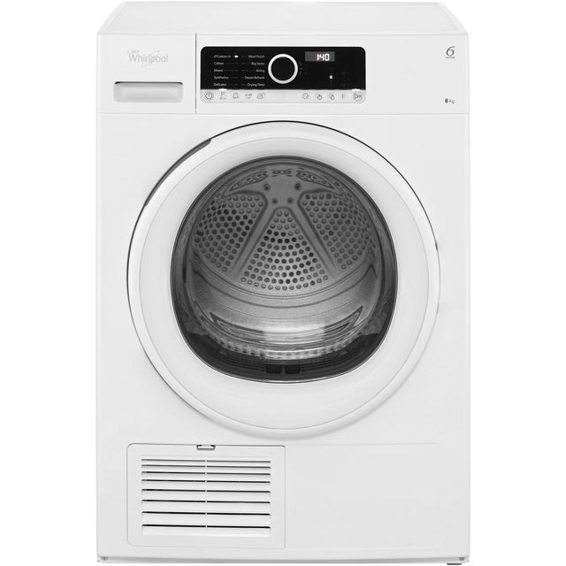 Whirlpool HSCX80110 8Kg Condenser Tumble Dryer - White - B Rated