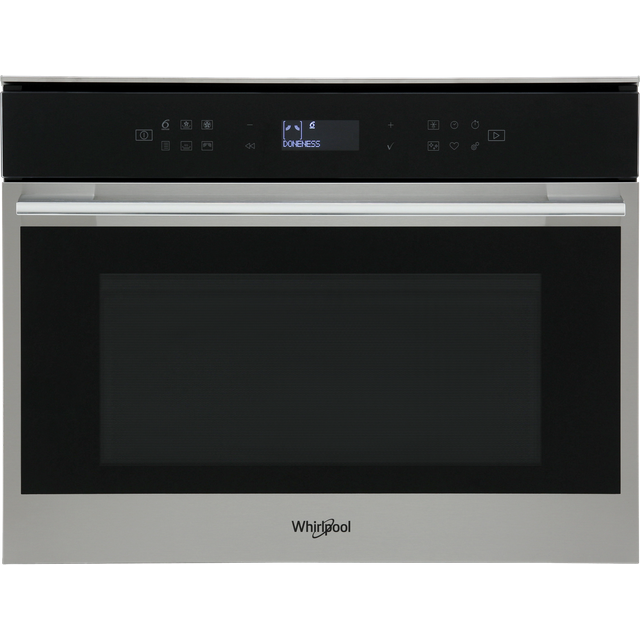Whirlpool W Collection W7MW461UK Built In Combination Microwave Oven - Stainless Steel - W7MW461UK_SS - 1