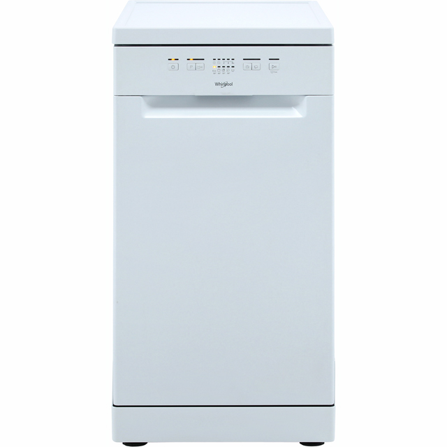 Whirlpool SupremeClean WSFE2B19UK Slimline Dishwasher - White - A+ Rated - WSFE2B19UK_WH - 1