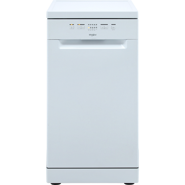 Whirlpool WSFE2B19UK Slimline Dishwasher - White - WSFE2B19UK_WH - 1