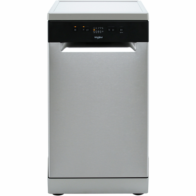 Whirlpool WSFE2B19XUK Slimline Dishwasher - Stainless Steel - A+ Rated - WSFE2B19XUK_SS - 1