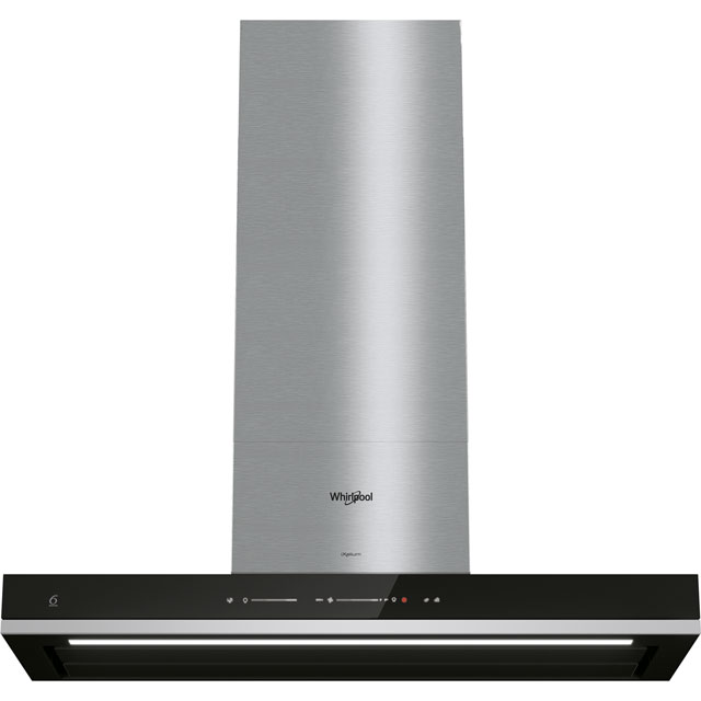 Whirlpool W Collection WHSS90FTSK 90 cm Chimney Cooker Hood - Black - A++ Rated - WHSS90FTSK_BK - 1