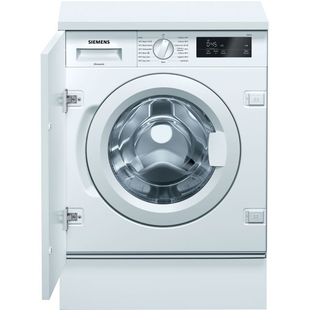 Siemens IQ-500 WI14W301GB Integrated 8Kg Washing Machine with 1400 rpm - White - A+++ Rated