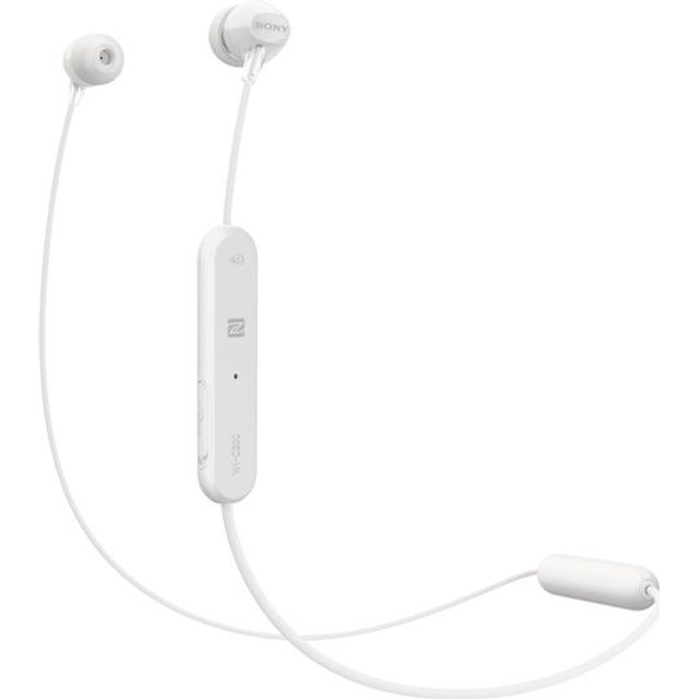 Sony WI-C300 In-Ear Wireless Bluetooth Headphones - White - WIC300W.CE7 - 1