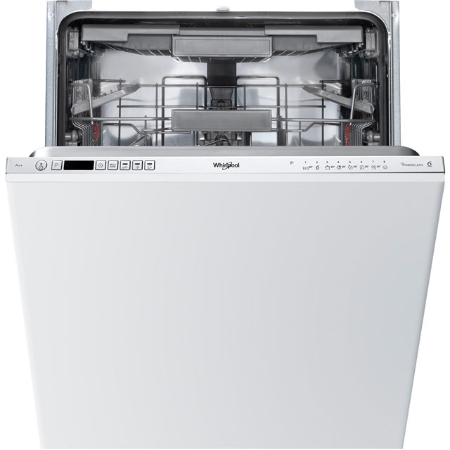 Whirlpool WIC3C23PEFUK Fully Integrated Standard Dishwasher - Silver Control Panel with Fixed Door Fixing Kit - A++ Rated - WIC3C23PEFUK_SI - 1
