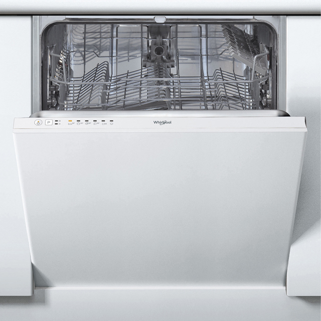 Whirlpool WIE2B19 Fully Integrated Standard Dishwasher - White Control Panel with Fixed Door Fixing Kit - A+ Rated - WIE2B19_BK - 1