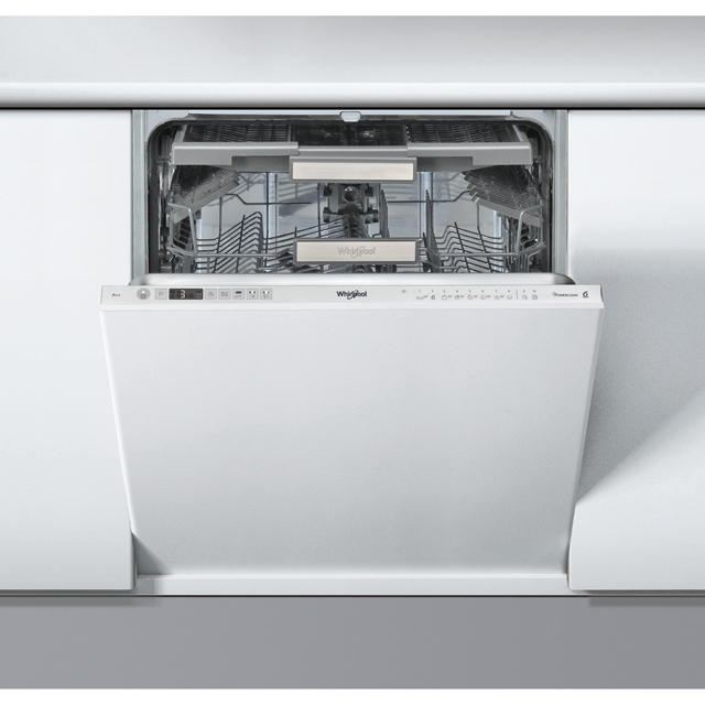 Whirlpool 6th Sense PowerClean WIO3O43DLSUK Fully Integrated Standard Dishwasher - Silver Control Panel with Fixed Door Fixing Kit - A+++ Rated - WIO3O43DLSUK_SI - 1