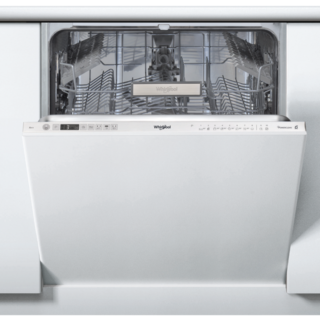 Whirlpool WIO3T123PEFUK Fully Integrated Standard Dishwasher - Stainless Steel Control Panel with Fixed Door Fixing Kit - A++ Rated - WIO3T123PEFUK_SS - 1