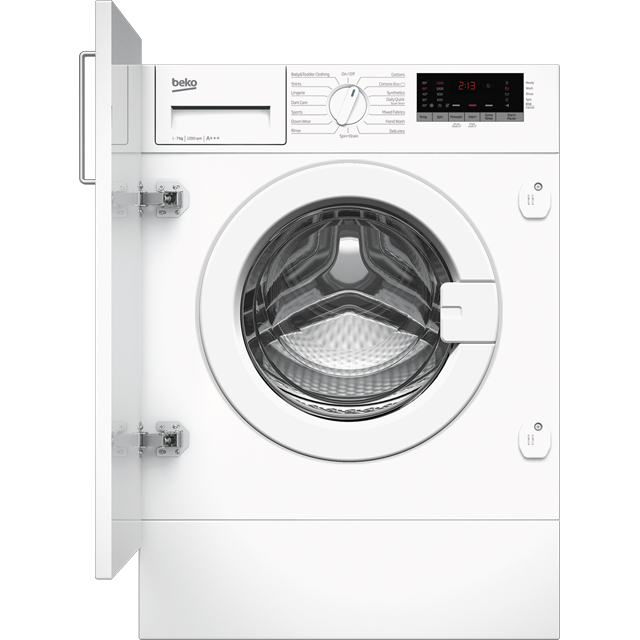 Beko WIR725451 Integrated 7Kg Washing Machine with 1200 rpm - White - A+++ Rated
