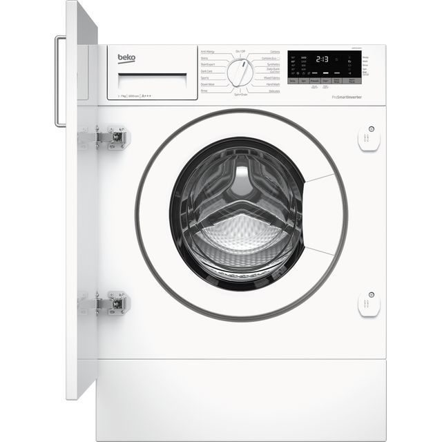 Beko WIR76540F1 Built In 7Kg Washing Machine - White - WIR76540F1_WH - 1