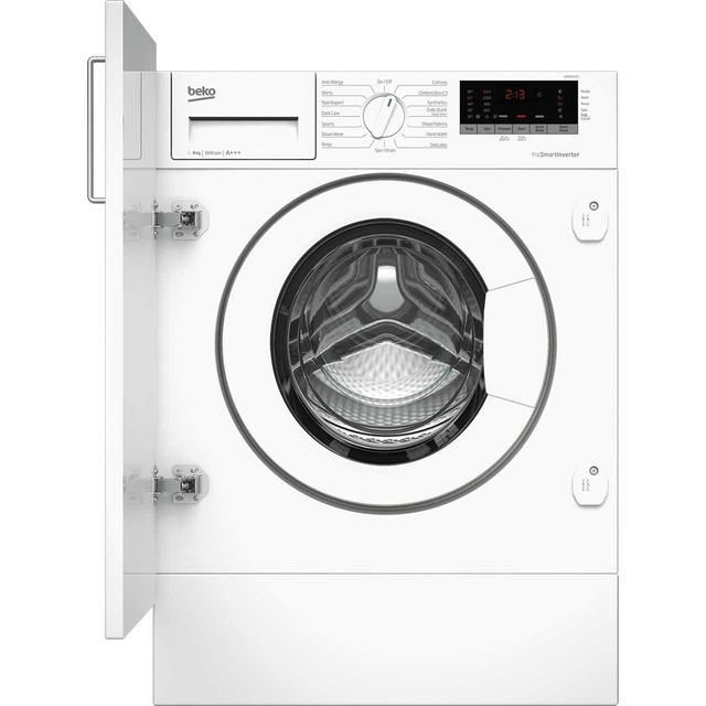 Beko WIR86540F1 Integrated 8Kg Washing Machine with 1600 rpm - A+++ Rated