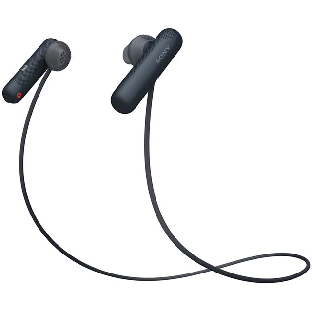 Sony SP500 In-ear Water Resistant Wireless Sports Headphones - Black
