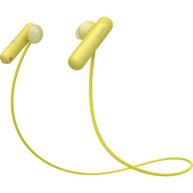 Sony WI-SP500 In-Ear Water Resistant Wireless Sports Headphones - Yellow - WISP500Y.CE7 - 1