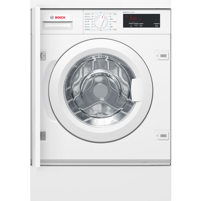 Bosch Serie 6 WIW28300GB Built In Washing Machine - White - WIW28300GB_WH - 1