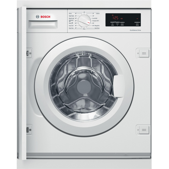 Bosch Serie 6 WIW28301GB Integrated 8Kg Washing Machine with 1400 rpm - White - A+++ Rated