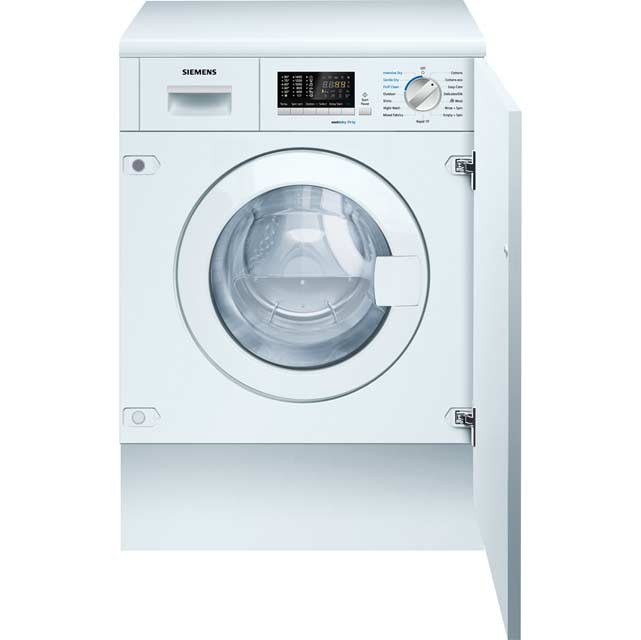 Siemens IQ-500 WK14D541GB Built In 7Kg / 4Kg Washer Dryer - White - WK14D541GB_WH - 1
