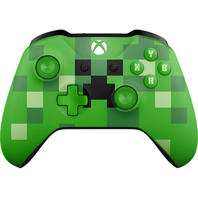 Xbox One Wireless Minecraft Creeper Controller - Green