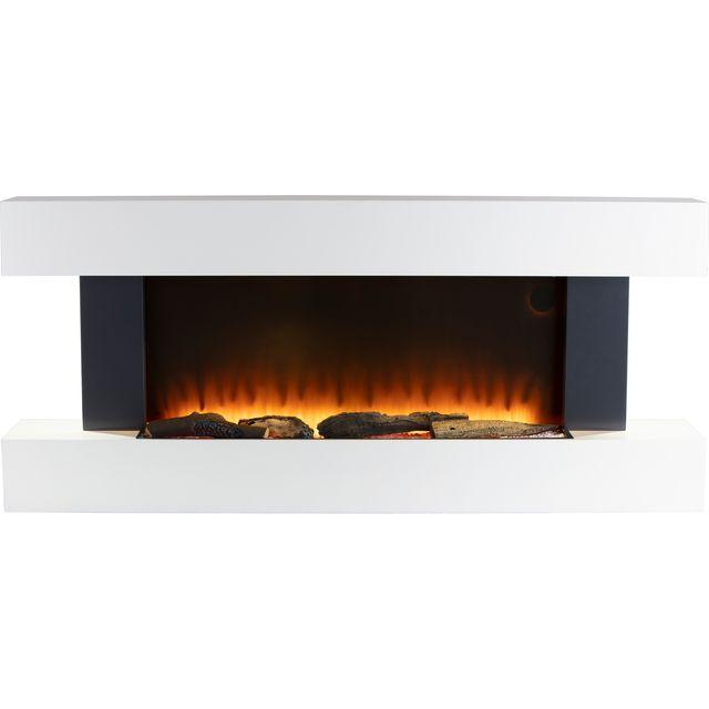 Warmlite Hingham WL45033N Log Effect Wall Mounted Fire - White