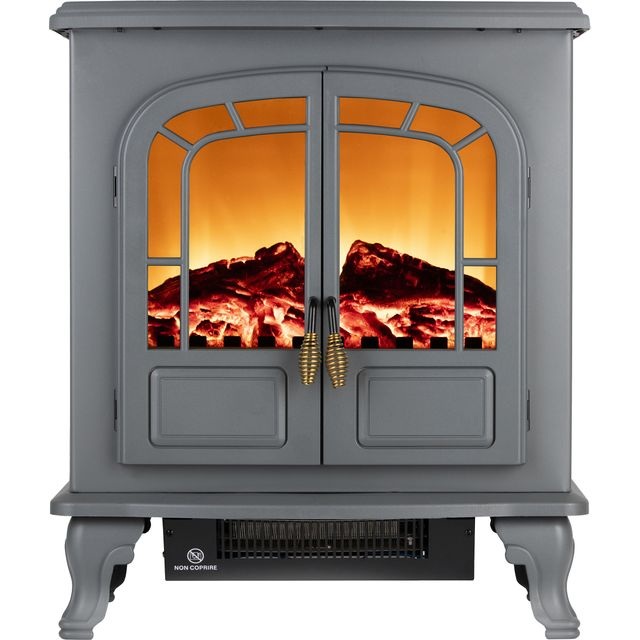 Warmlite Wingham WL46019G Log Effect Electric Stove With Remote Control - Grey