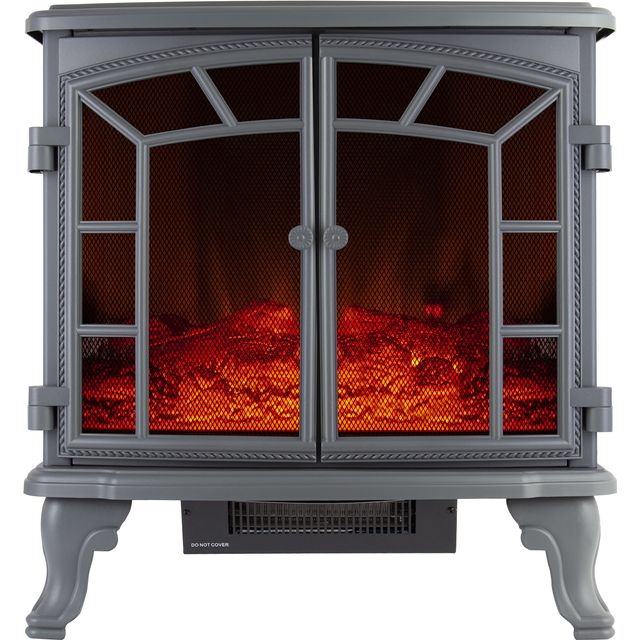 Warmlite Rochester WL46020G Log Effect Electric Stove With Remote Control - Grey