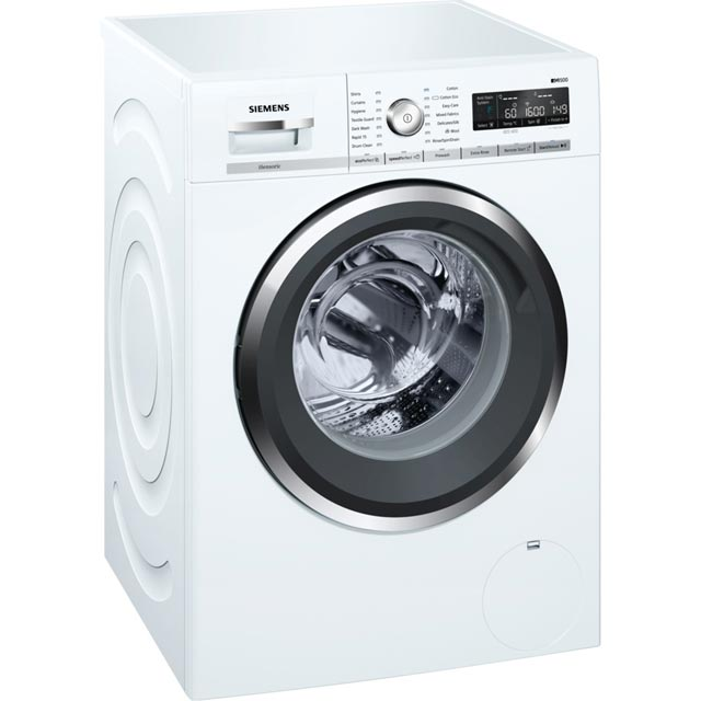 Siemens IQ-500 WM16W5H0GB Wifi Connected 9Kg Washing Machine with 1600 rpm - White - A+++ Rated - WM16W5H0GB_WH - 1