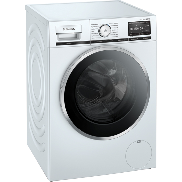 Siemens IQ-700 WM16XGH1GB Wifi Connected 10Kg Washing Machine with 1600 rpm - White - A+++ Rated - WM16XGH1GB_WH - 1