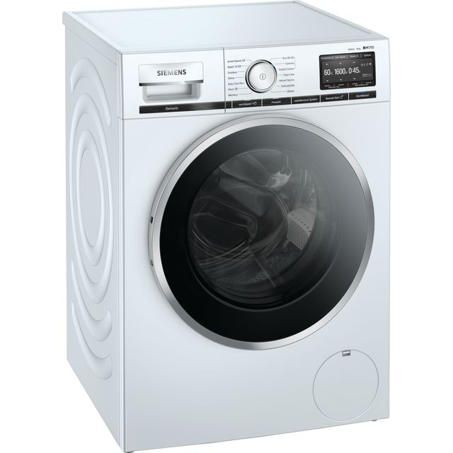 Siemens IQ-700 WM16XGH4GB Wifi Connected 10Kg Washing Machine with 1600 rpm - White - A+++ Rated