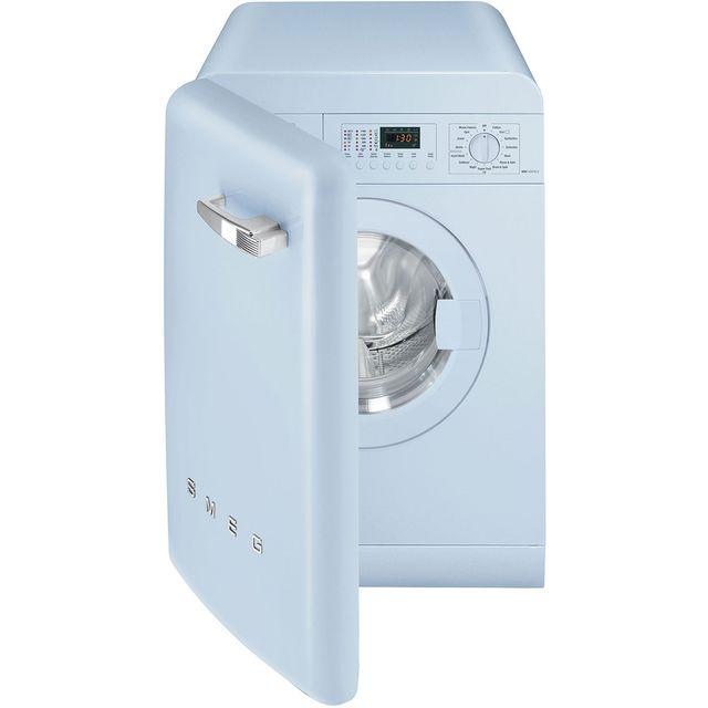 Smeg 50s Retro WMFABPB-2 7Kg Washing Machine with 1400 rpm - Pastel Blue - A++ Rated