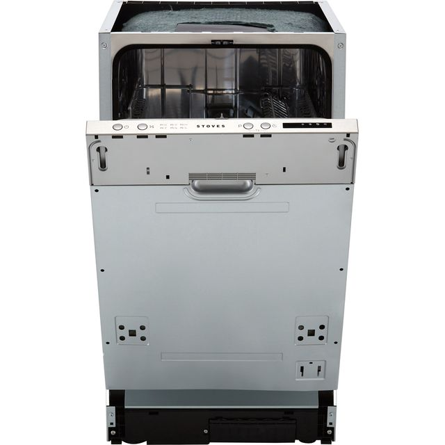 Stoves SDW45 Fully Integrated Slimline Dishwasher - Silver Control Panel with Fixed Door Fixing Kit - D Rated
