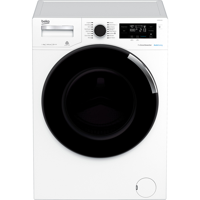 Beko WR84PB44DW 8Kg Washing Machine with 1400 rpm - White - A+++ Rated