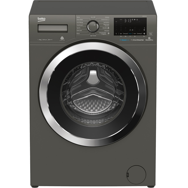 Beko WR860441G 8Kg Washing Machine with 1600 rpm - Graphite - WR860441G_GH - 1