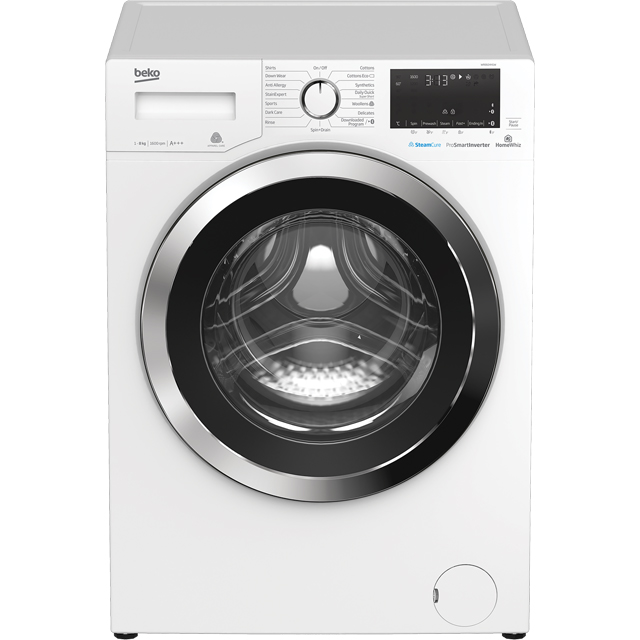 Beko WR860441W 8Kg Washing Machine with 1600 rpm - White - WR860441W_WH - 1