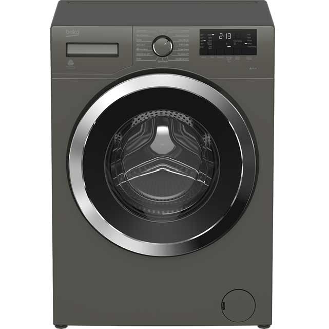 beko wr862441g free standing washing machine in graphite. Black Bedroom Furniture Sets. Home Design Ideas