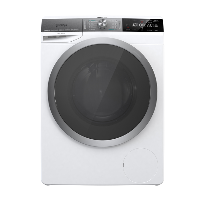 Gorenje WaveActive WS168LNST 10Kg Washing Machine with 1600 rpm - White - A+++ Rated - WS168LNST_WH - 1