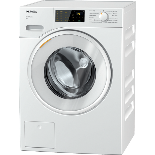 Miele W1 WSD123 8Kg Washing Machine with 1400 rpm - White - A+++ Rated - WSD123_WH - 1