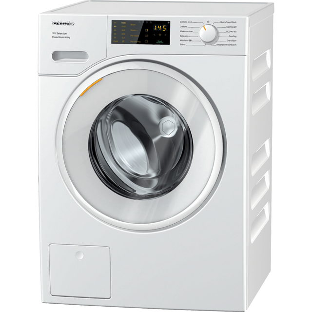 Miele W1 WSD323 8Kg Washing Machine with 1400 rpm - White - A+++ Rated - WSD323_WH - 1
