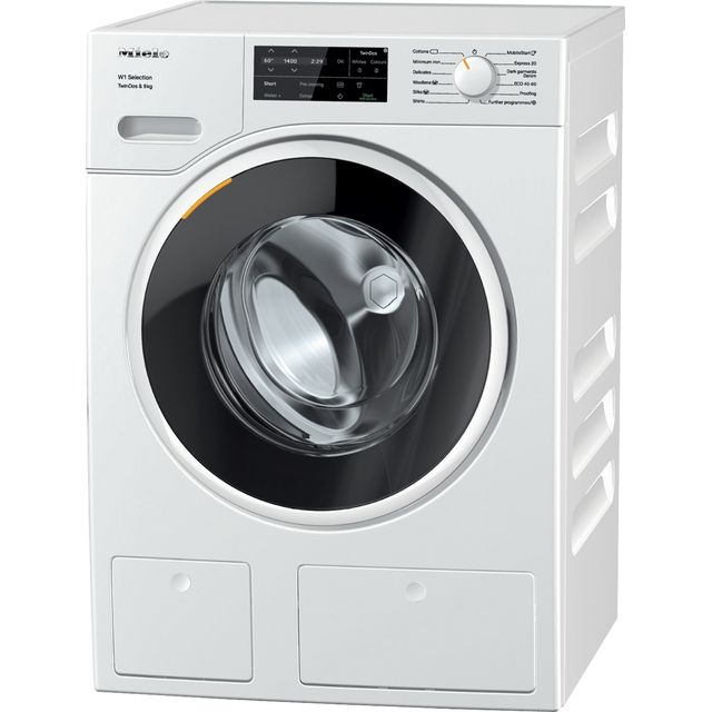 Miele W1 WSG663 Wifi Connected 9Kg Washing Machine with 1400 rpm - White - A+++ Rated - WSG663_WH - 1
