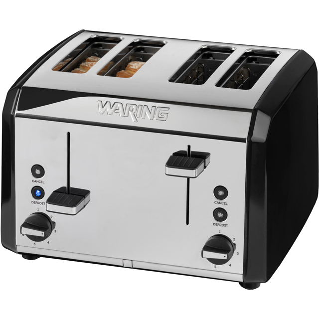 Waring WT400BKU 4 Slice Toaster - Metallic Black