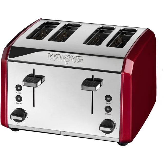 Waring WT400RU 4 Slice Toaster - Metallic Red
