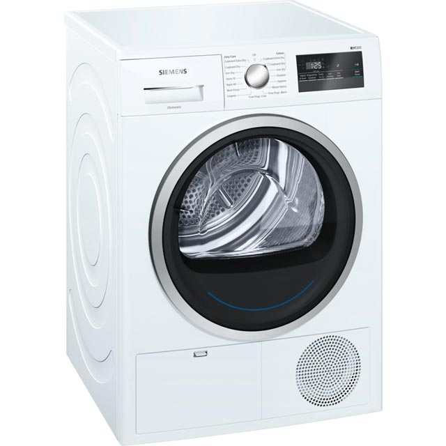 Siemens IQ-300 WT45N201GB 8Kg Condenser Tumble Dryer - White - B Rated - WT45N201GB_WH - 1