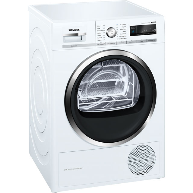Siemens IQ-500 WT47W591GB 8Kg Heat Pump Tumble Dryer - White - A++ Rated - WT47W591GB_WH - 1