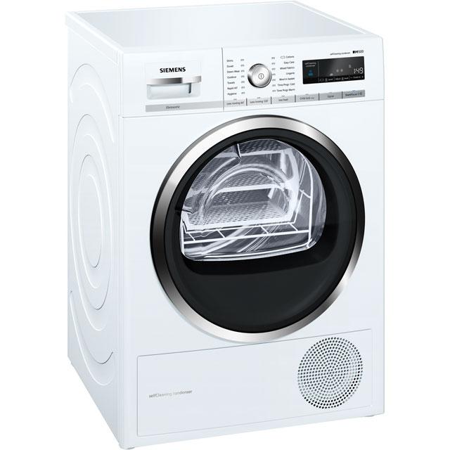 Siemens IQ-500 WT47W591GB 8Kg Heat Pump Tumble Dryer - White - A++ Rated