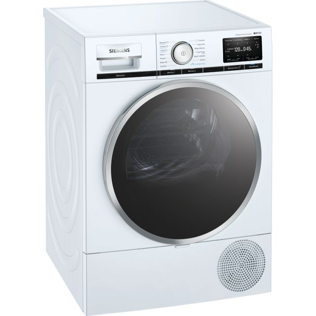Siemens IQ-700 WT48XEH9GB Wifi Connected 9Kg Heat Pump Tumble Dryer - White - A+++ Rated - WT48XEH9GB_WH - 1