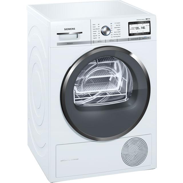 Siemens IQ-700 Free Standing Condenser Tumble Dryer in White