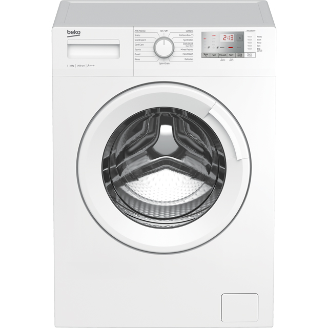 Beko WTG1041B4W 10Kg Washing Machine with 1400 rpm - White - WTG1041B4W_WH - 1