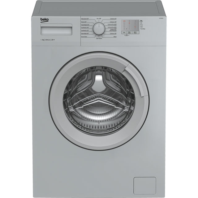 Beko WTG50M1S Free Standing Washing Machine in Silver