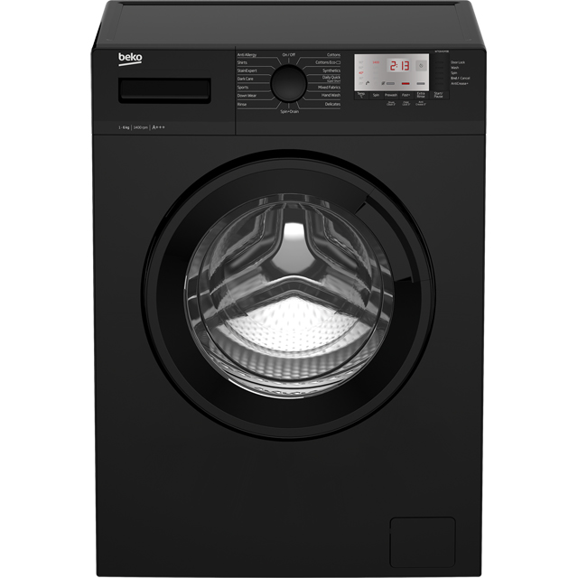 Beko WTG641M3B 6Kg Washing Machine with 1400 rpm - Black - A+++ Rated - WTG641M3B_BK - 1